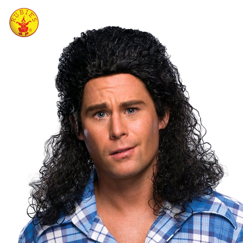BLACK MULLET BILLY RAY CYRUS WIG, ADULT