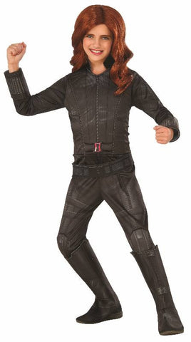 BLACK WIDOW DELUXE SUPERHERO COSTUME, CHILD - SIZE S