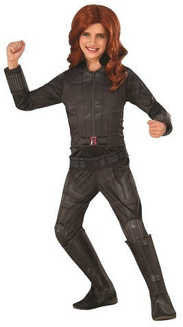 BLACK WIDOW DELUXE SUPERHERO COSTUME, CHILD - SIZE M
