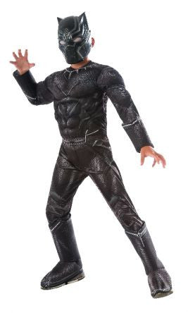 BLACK PANTHER DELUXE COSTUME, CHILD - SIZE M