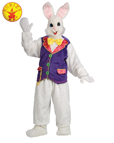 EASTER BUNNY MASCOT COSTUME, ADULT - SIZE STD