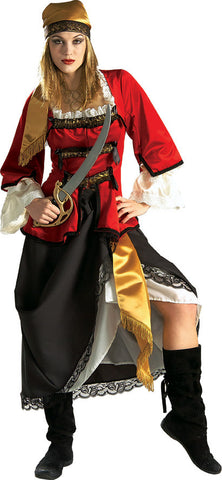 PIRATE QUEEN COSTUME, ADULT - SIZE S