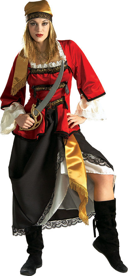 PIRATE QUEEN COSTUME, ADULT - SIZE M