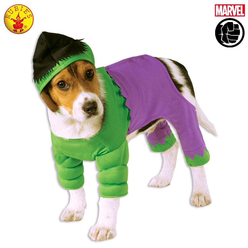 INCREDIBLE HULK PET COSTUME - SIZE S