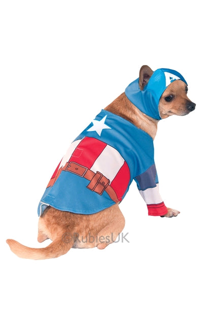 CAPTAIN AMERICA PET COSTUME - SIZE S