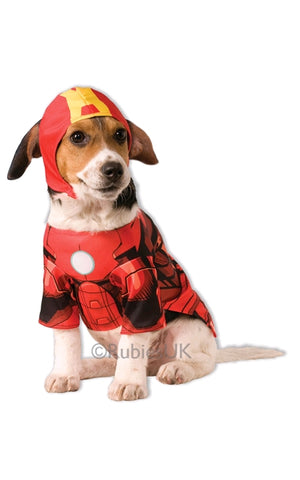 IRON MAN PET COSTUME -SIZE S