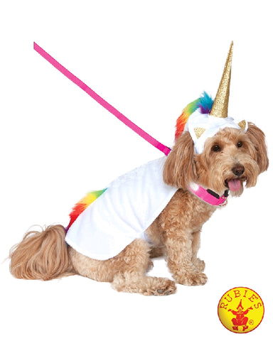 UNICORN LIGHT UP PET COSTUME, PETS - SIZE M