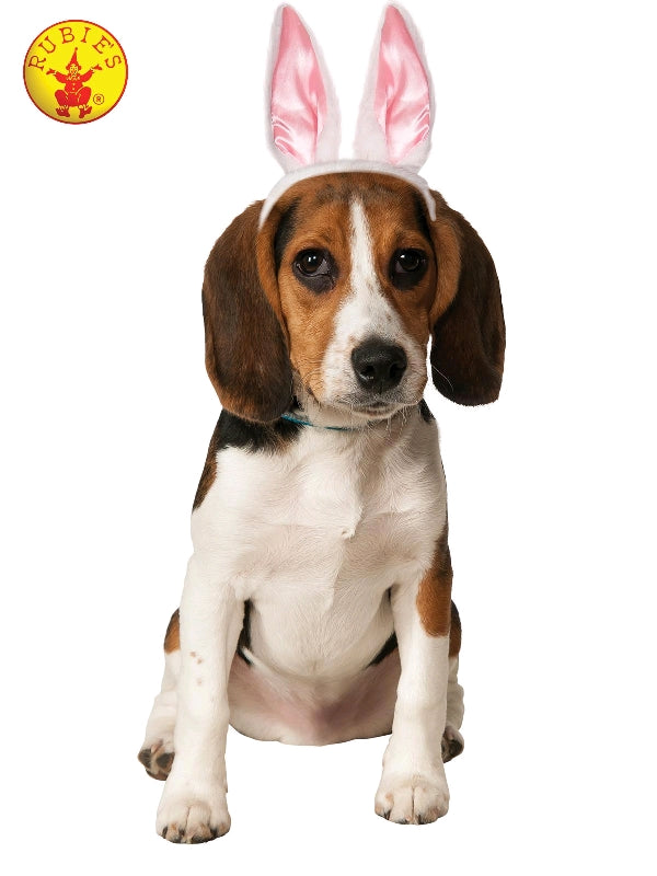 EASTER BUNNY EARS DOG COSTUME - SIZE M-L