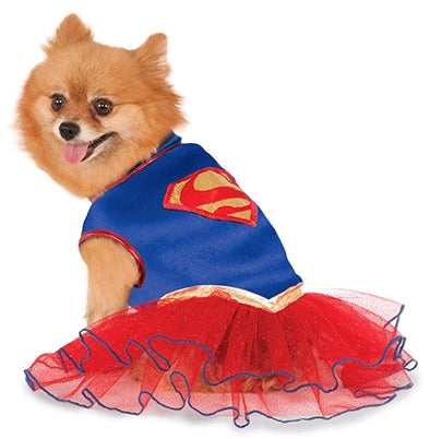 SUPERGIRL PET TUTU DRESS - SIZE S
