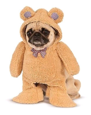 WALKING TEDDY BEAR PET COSTUME - SIZE S