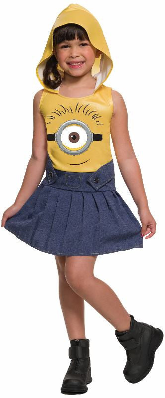 MINION FACE DRESS - SIZE 4-6
