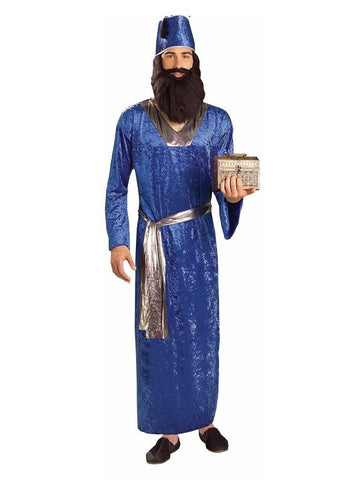 BLUE WISEMAN CHRISTMAS COSTUME, ADULT