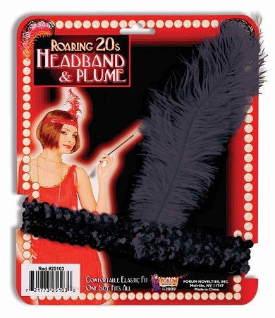 Roaring 20s Flapper Headband and Plume