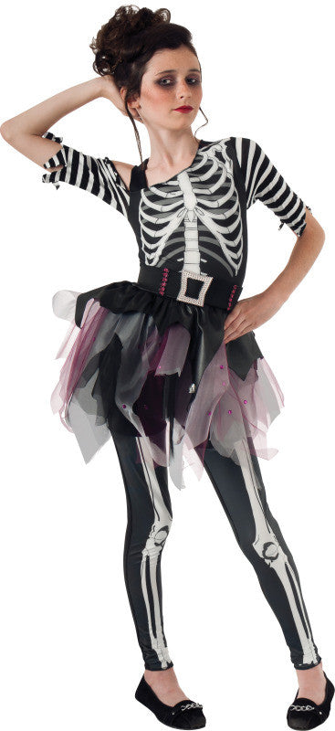 NEON SKELETON TUTU COSTUME, CHILD - SIZE S