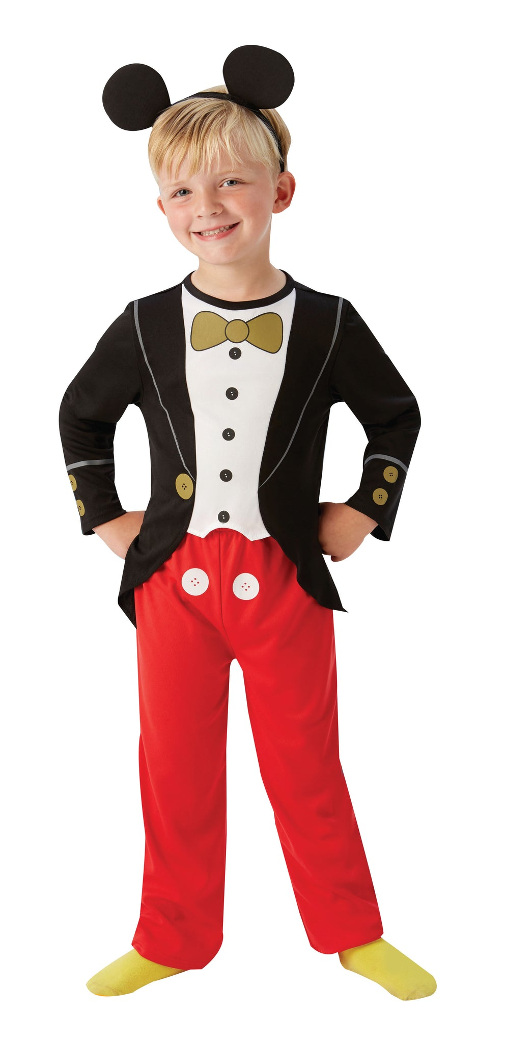 MICKEY MOUSE TUXEDO COSTUME, CHILD - SIZE S