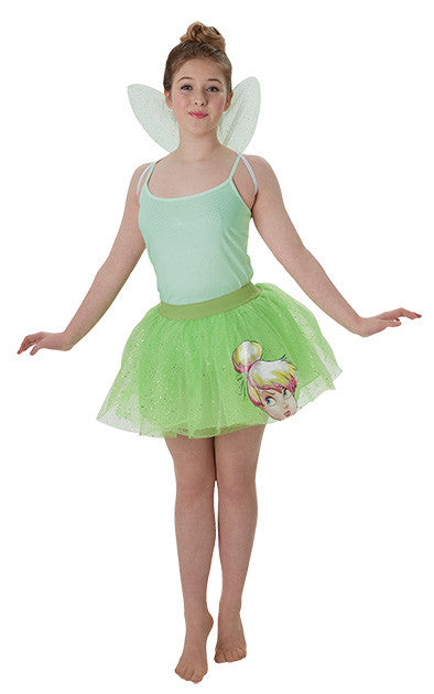 TINKER BELL TWEEN TUTU & WINGS SET - SIZE XS