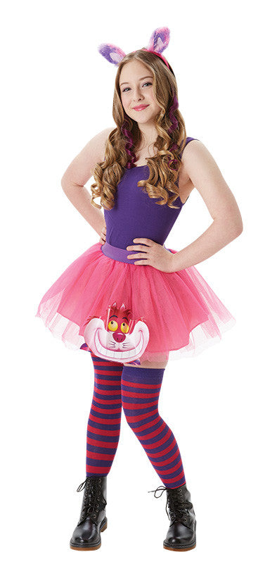 CHESHIRE CAT TUTU & ACCESSORIES SET, ADULT - SIZE XS