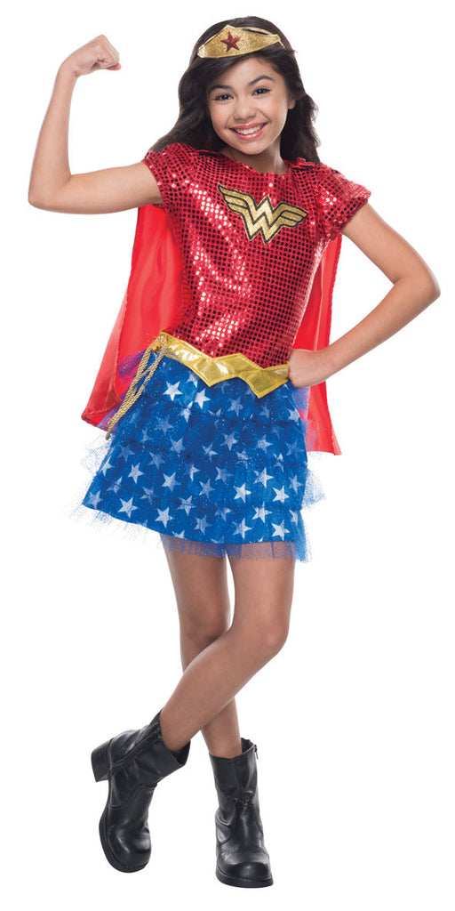 WONDER WOMAN SEQUIN COSTUME - SIZE M