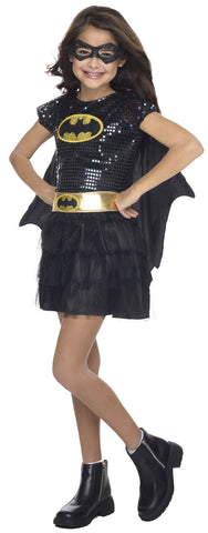 BATGIRL SEQUIN TUTU COSTUME, CHILD - SIZE S
