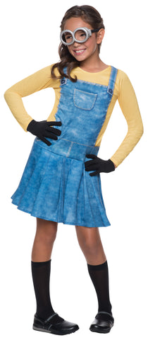 MINION FEMALE COSTUME, CHILD - SIZE S