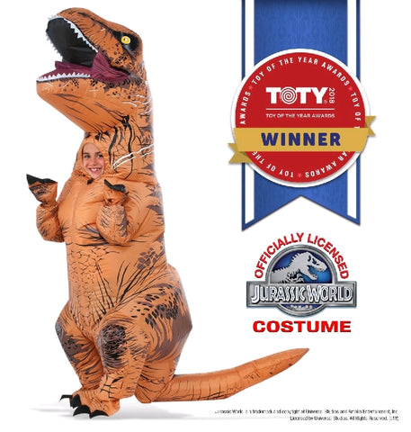 JURASSIC T-REX COSTUME WITH SOUND, ADULT - SIZE STD
