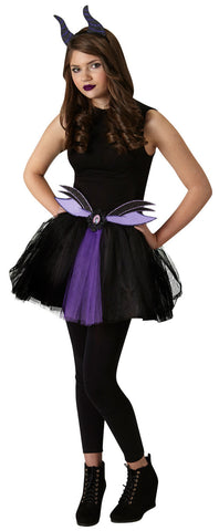 MALEFICENT TWEEN TUTU SET - SIZE XS