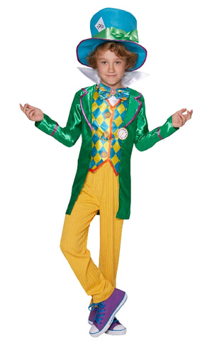 MAD HATTER DELUXE COSTUME, CHILD - SIZE 9-10