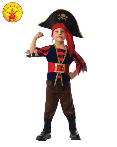 SHIPMATE PIRATE COSTUME, CHILD - SIZE S