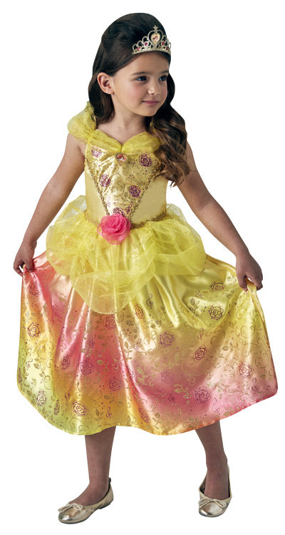BELLE RAINBOW DELUXE COSTUME, CHILD - SIZE 6-8