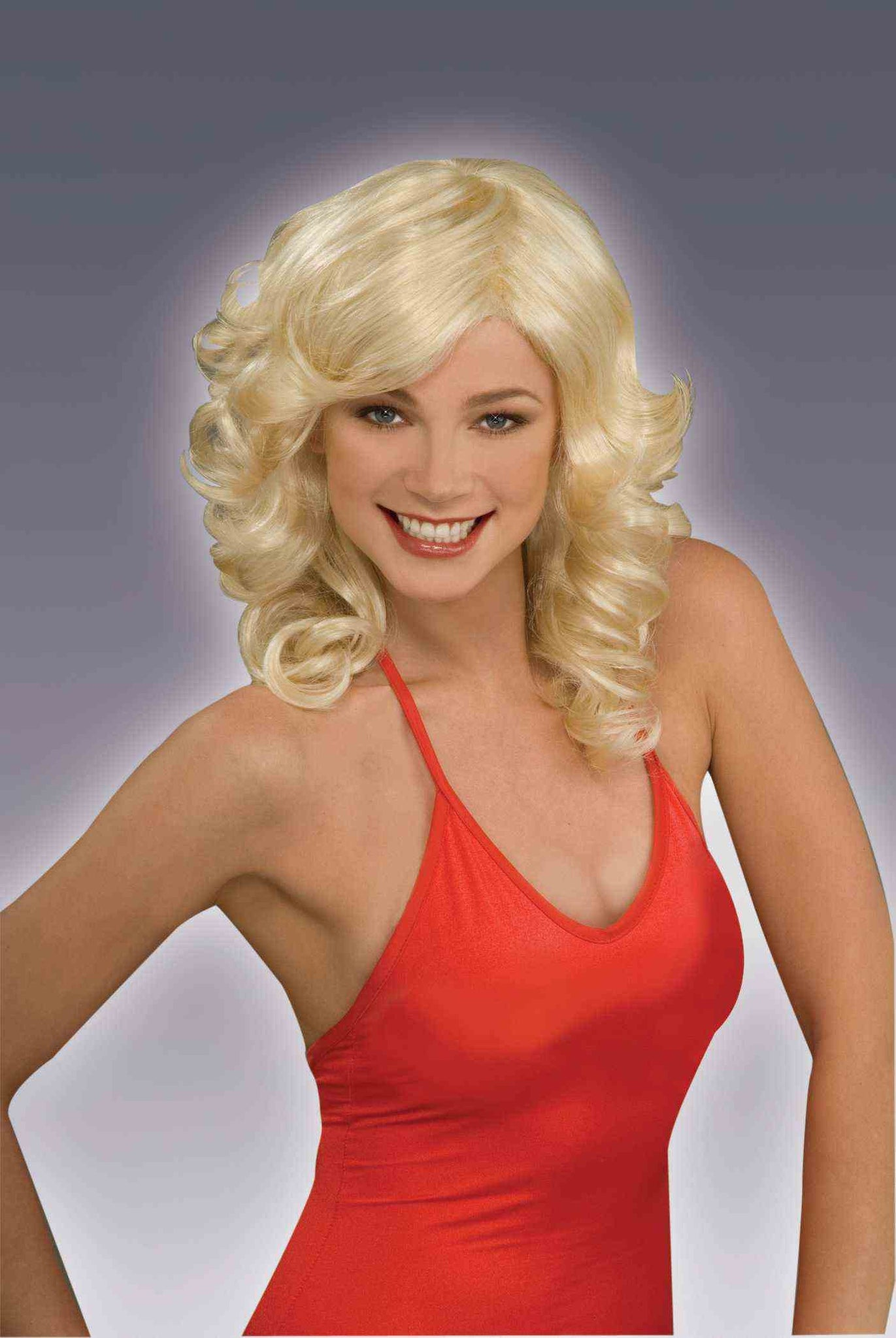 BLONDE DISCO FOX WIG,  ADULT
