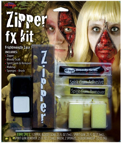 ZIPPER GORE HALLOWEEN MAKEUP KIT, ADULT