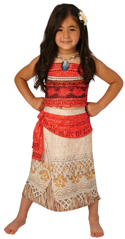 MOANA DELUXE COSTUME, CHILD - SIZE S