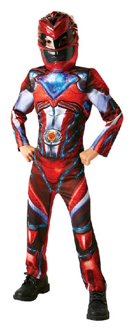 POWER RANGERS RED DELUXE COSTUME, CHILD  -  SIZE 6-8