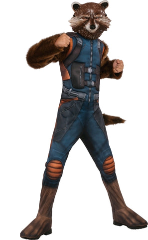 ROCKET RACCOON DELUXE COSTUME, CHILD - SIZE M