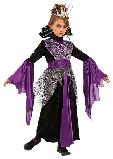QUEEN VAMPIRE COSTUME, CHILD - SIZE S