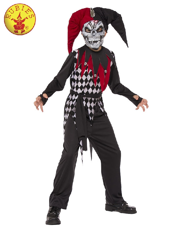 EVIL JESTER COSTUME, CHILD - SIZE M