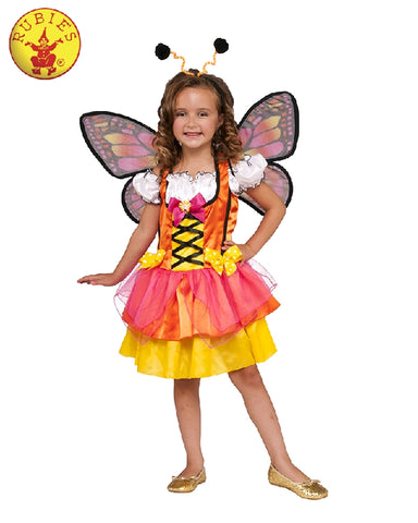 GLITTERY BUTTERFLY COSTUME, CHILD - SIZE S