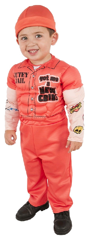 MUSCLE PRISONER DELUXE COSTUME, CHILD - SIZE S