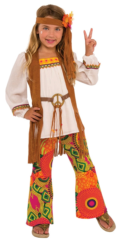 FLOWER CHILD COSTUME - SIZE L