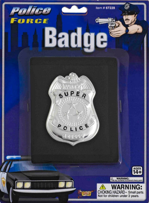 Metal Police Badge - Silver