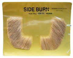 **Human Hair Sideburns - Blonde**