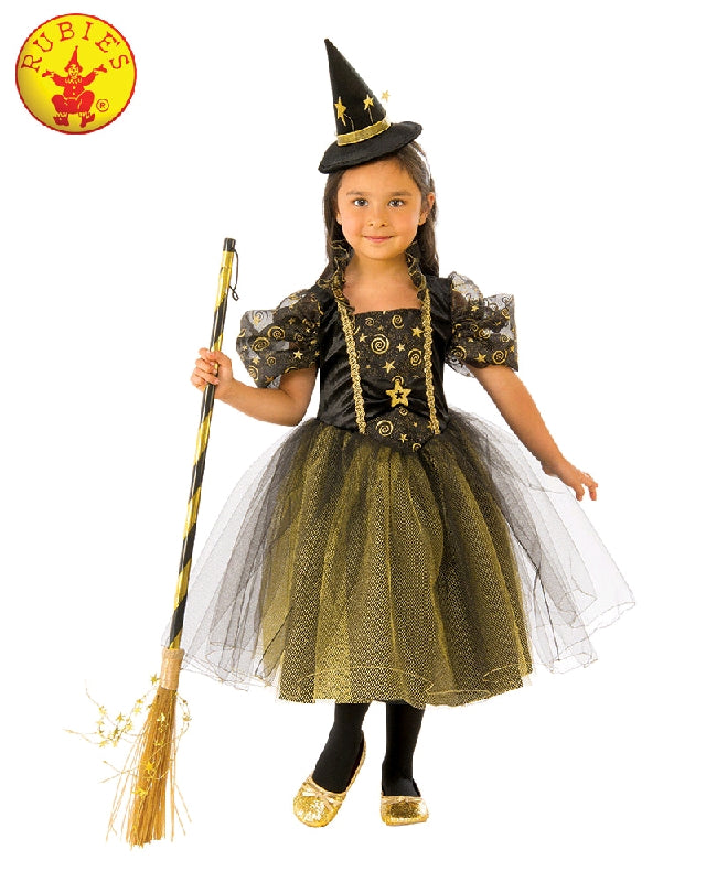 GOLDEN STAR WITCH COSTUME, CHILD - SIZE M