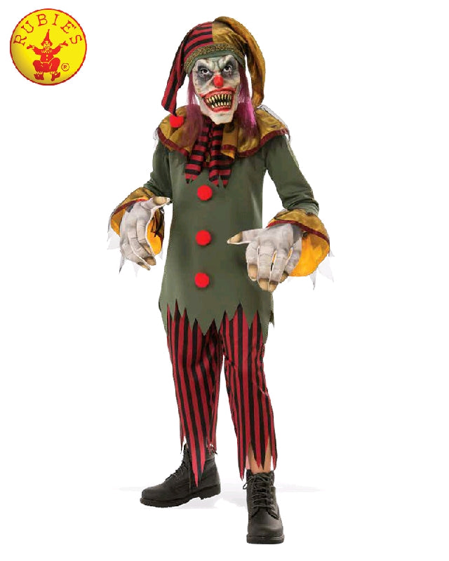 CRAZY CLOWN HALLOWEEN COSTUME, CHILD - SIZE M
