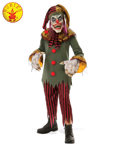 CRAZY CLOWN HALLOWEEN COSTUME, CHILD - SIZE L