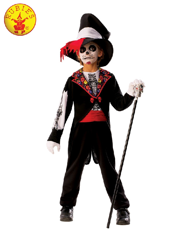 DAY OF THE DEAD DELUXE COSTUME, CHILD - SIZE 3-5