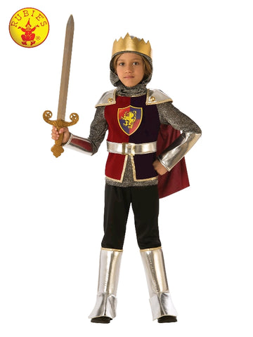SILVER KNIGHT COSTUME, CHILD - SIZE M