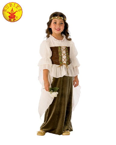 WOODLAND GIRL COSTUME, CHILD - SIZE S