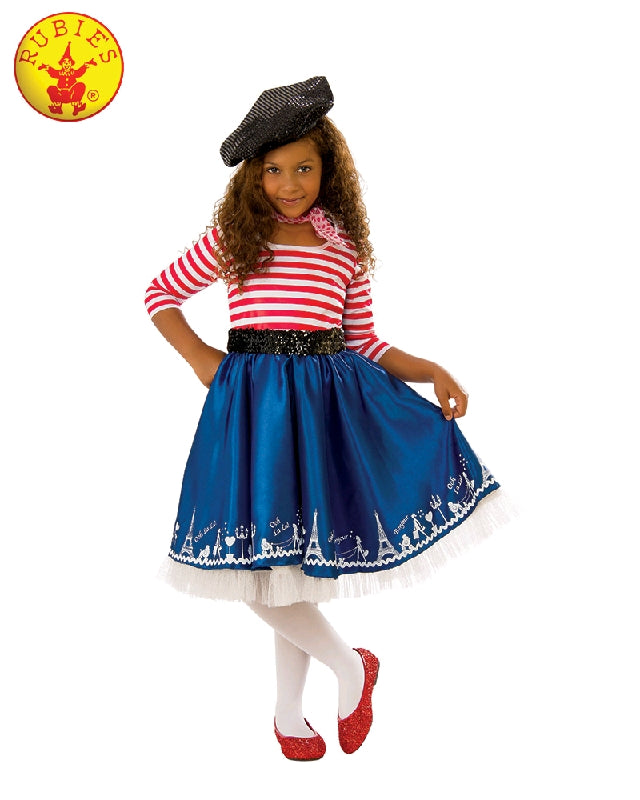 PETITE MADEMOISELLE FRENCH COSTUME, CHILD - SIZE S