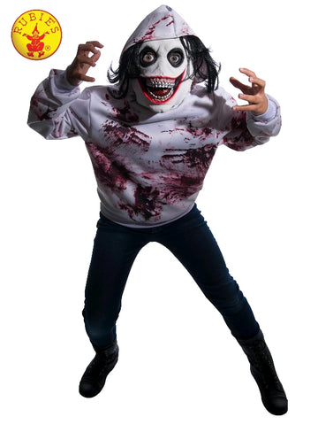 MANIC GHOUL HALLOWEEN COSTUME, CHILD - SIZE L