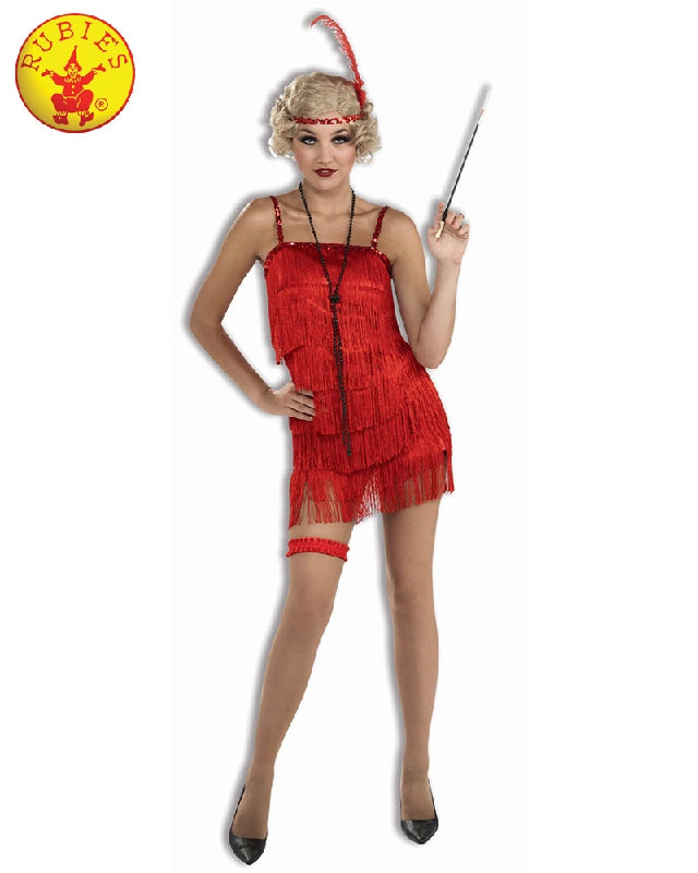 FLAPPER DELUXE RED COSTUME, ADULT - SIZE L